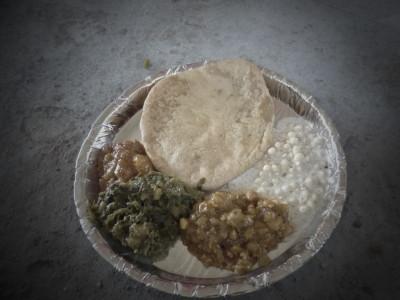 indische vegetarische Speisen zum Mittag